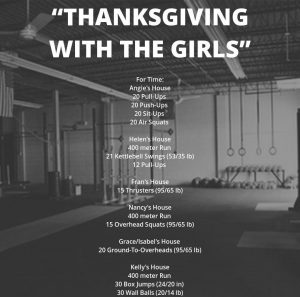 """""""Thanksgiving with the Girls"""" Workout"""