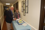 Executive Director, Pat Steed and Chairman, Pat Huff cut the cake at the 40th Anniversary Lunch