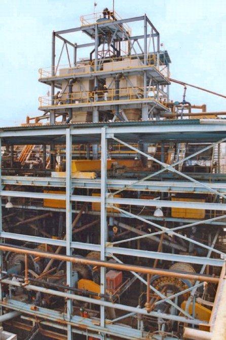 10' x 10' - 10' x 20' Multi-Density Separators Phosphate Plant