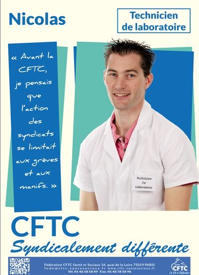 poster : Nicolas, technicien de laboratoire