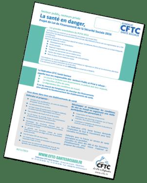 Tract à diffuser <br/>La santé en danger <br/>