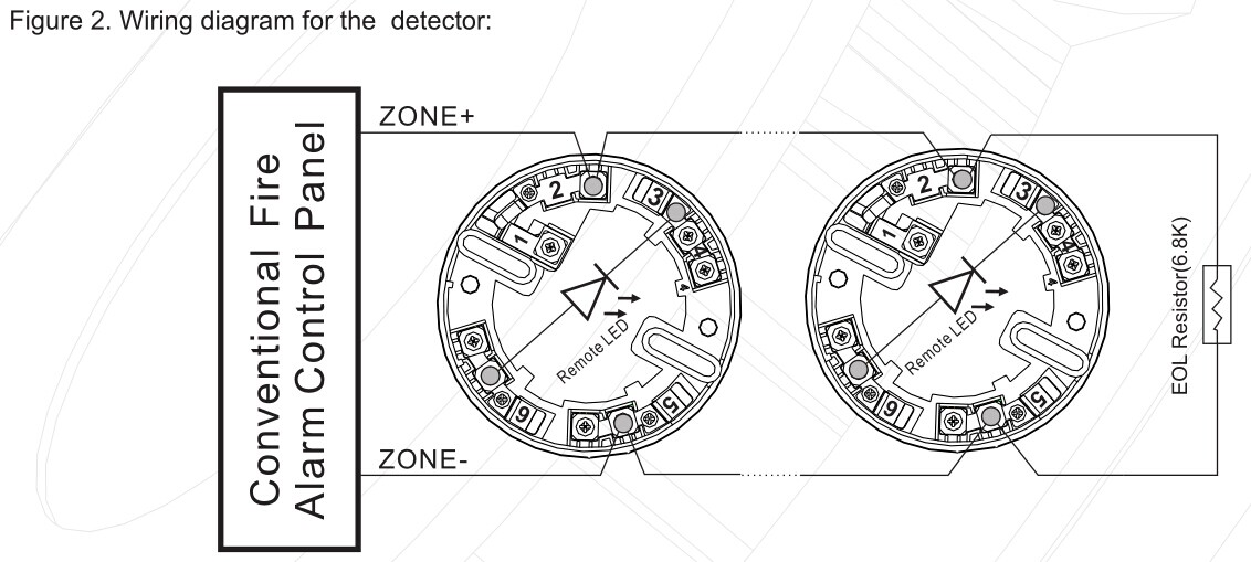 conventional fire alarm control panel wiring diagram hid miniprox reader heat detector wt105c professional and