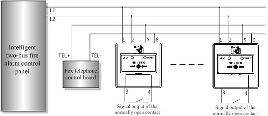 loop wiring diagram ge refrigerator schematic addressable manual call point:cft-960|professional conventional and intelligent fire alarm ...