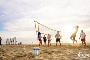 Volleyballturnier am Strand