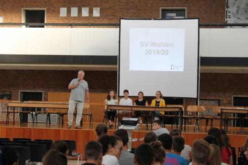 Herr Mayers kurze Ansprache zu Beginn