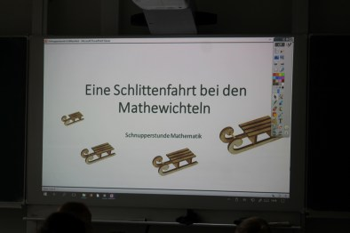 Schnupperstunde in Mathe
