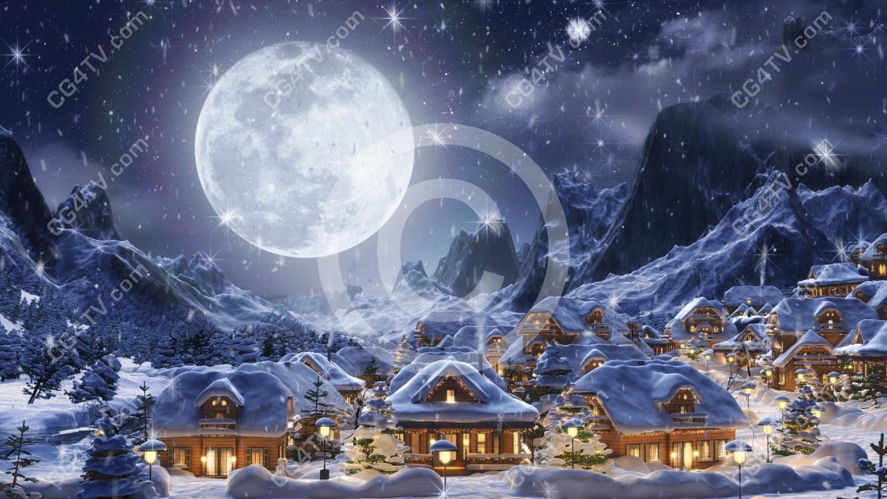 Fall Scenes Computer Wallpaper Christmas Snowfall 3d Animations