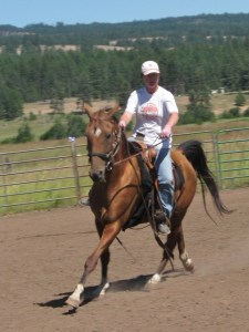 Tommy under saddle 2011