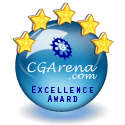 "CG ARENA EXCELLENCE AWARD "" For my ThunderCar """