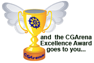 "CG ARENA EXCELLENCE AWARD "" For my Ronahi AZ """