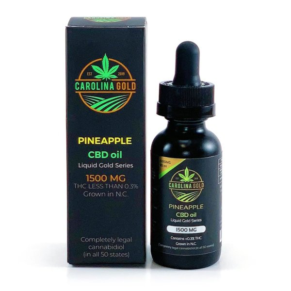 Carolina Gold CBD Oil 1500mg Pineapple