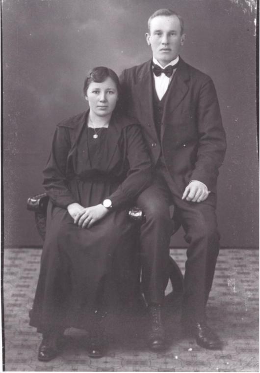 Förlovningsfoto 1925 Maria Nilsdotter och Alfred Håkansson