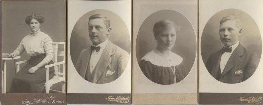 Nils och Bengta Jönssons barn Amanda, Albert, Anna och Ivar i Omma 5