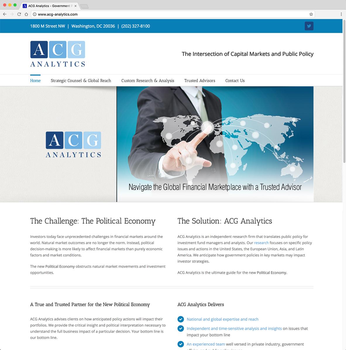 ACG Analytics Website