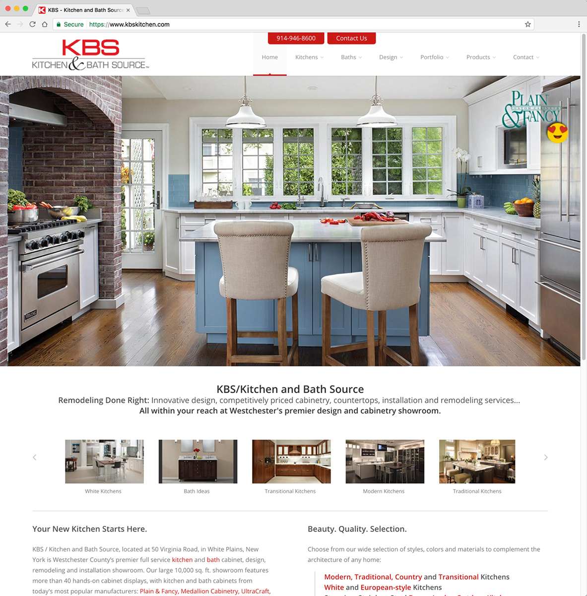 KBS/Kitchen and Bath Source Website - Home Page