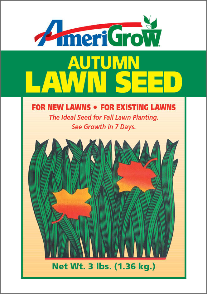 AmeriGrow Autumn Lawn Seed - Package Design