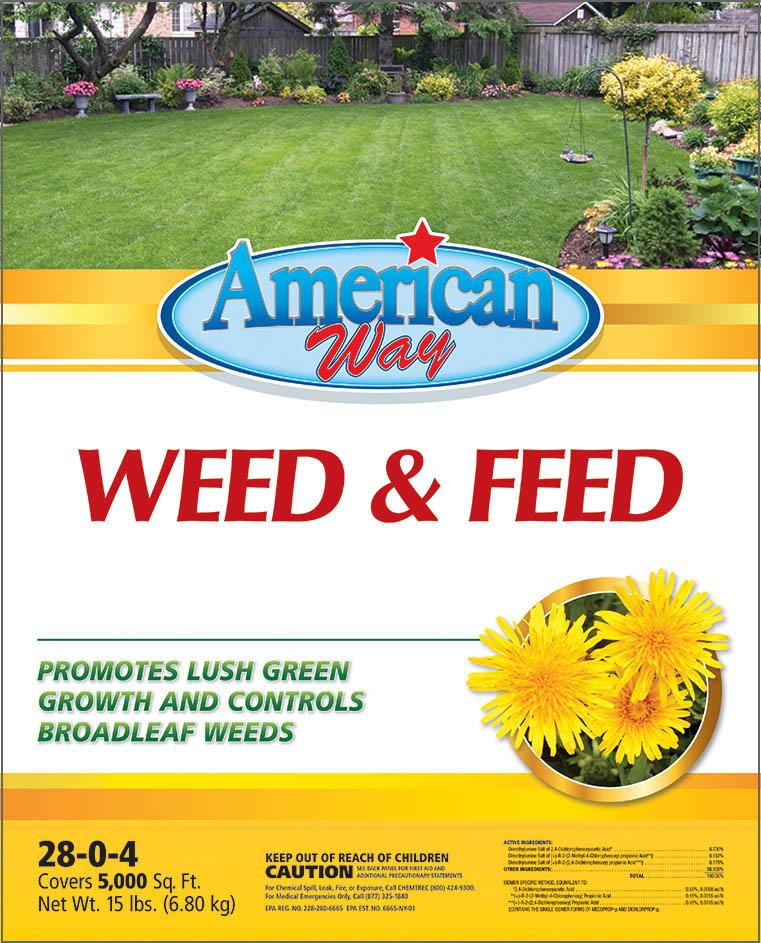American Way Weed & Feed - Package Design