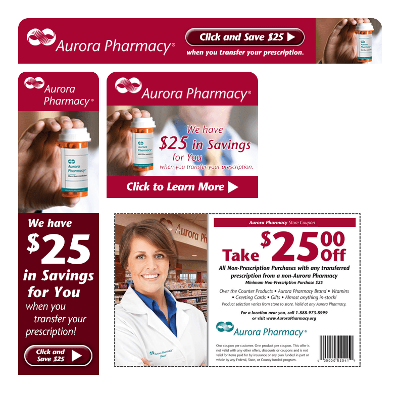 Aurora Pharmacy Digital Ads