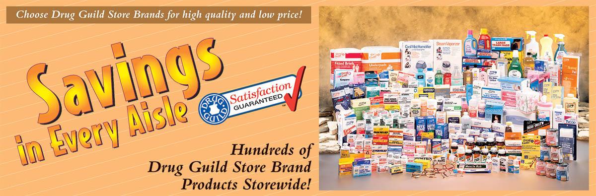 Drug Guild Store Brands - Banner
