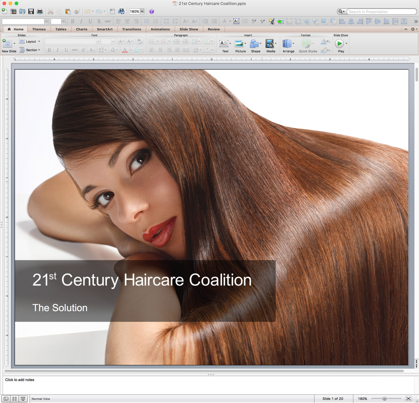 Example of PowerPoint Graphics - Transition Slide