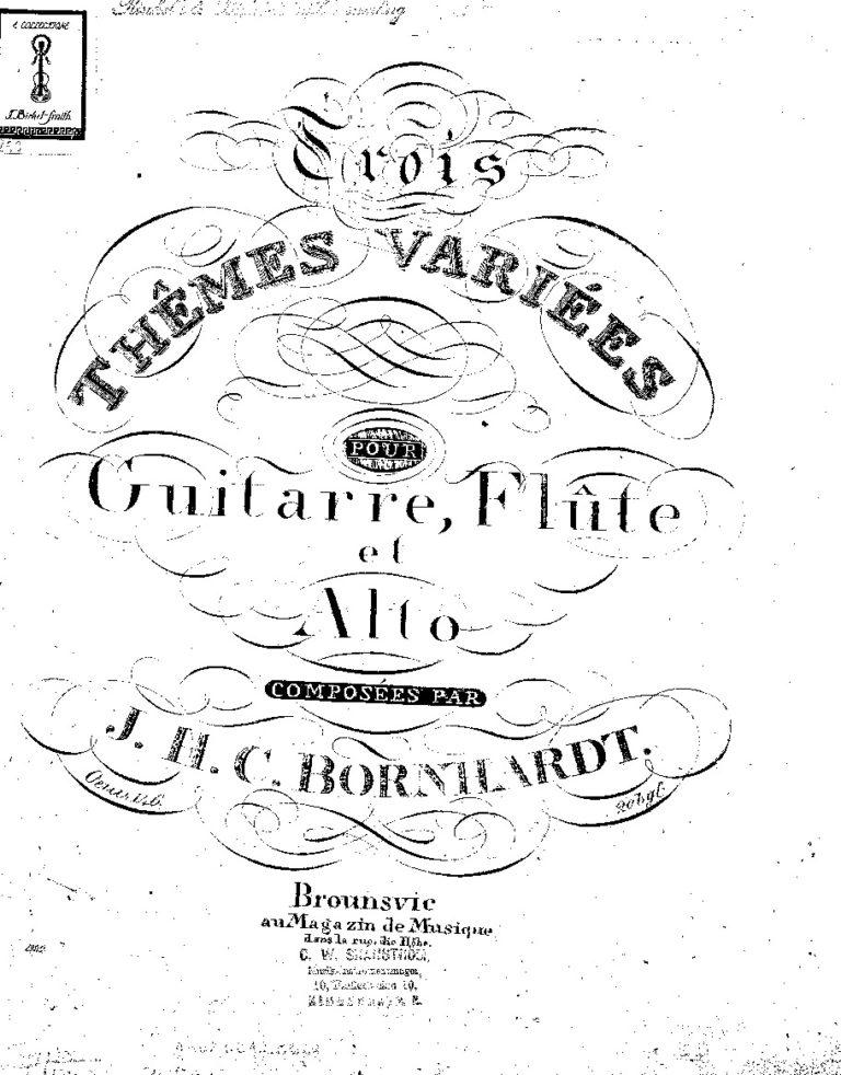 Bornhardt. Johann Heinrich Carl Free sheet music scores