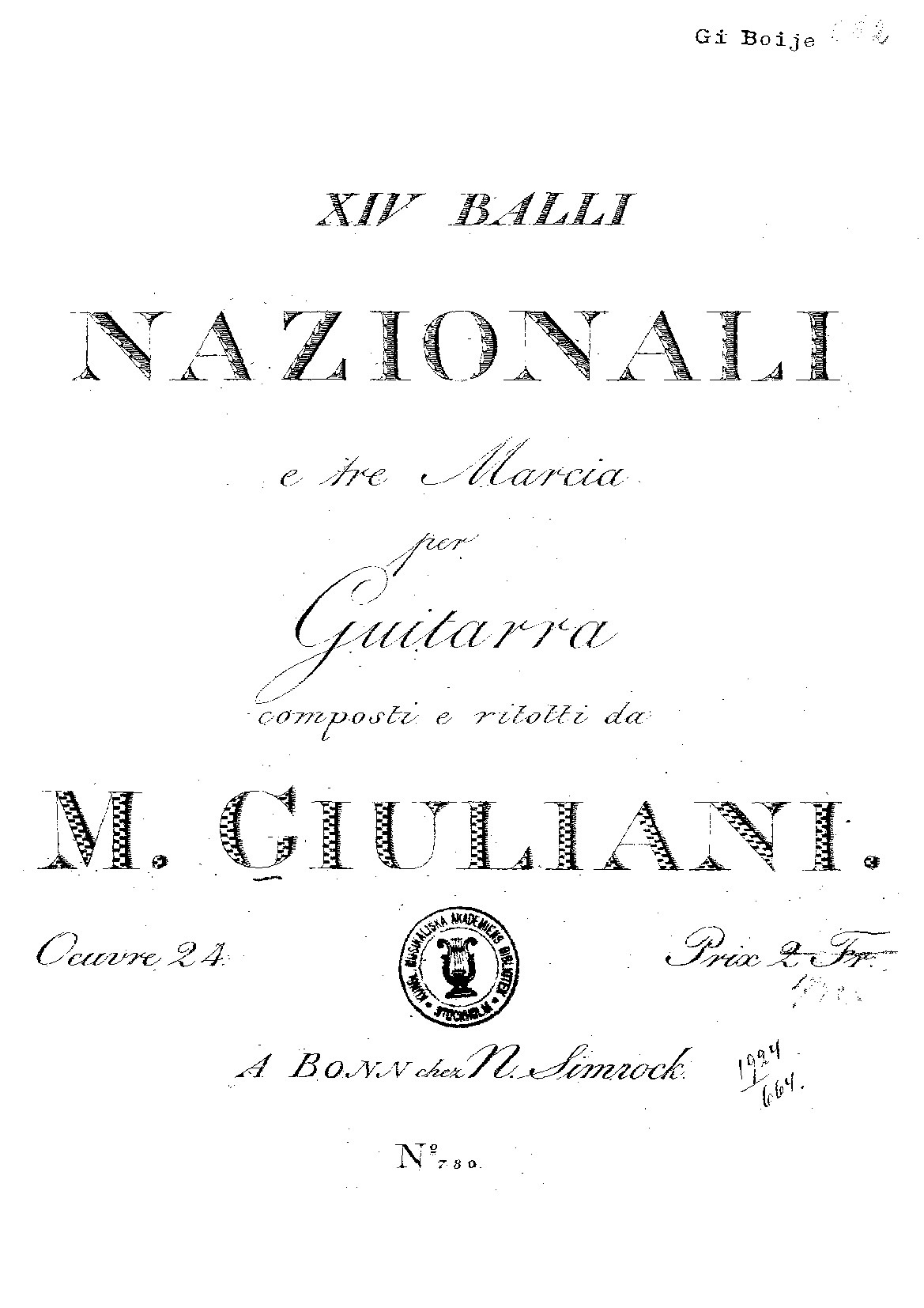 Op. 24b Fourteen National Dances and Three Marches