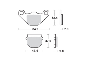 Brake pads scooter SBS 101HF, : motorcycle parts & spares