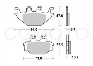 Brake pad Sifam Sintered metal, : motorcycle parts & spares