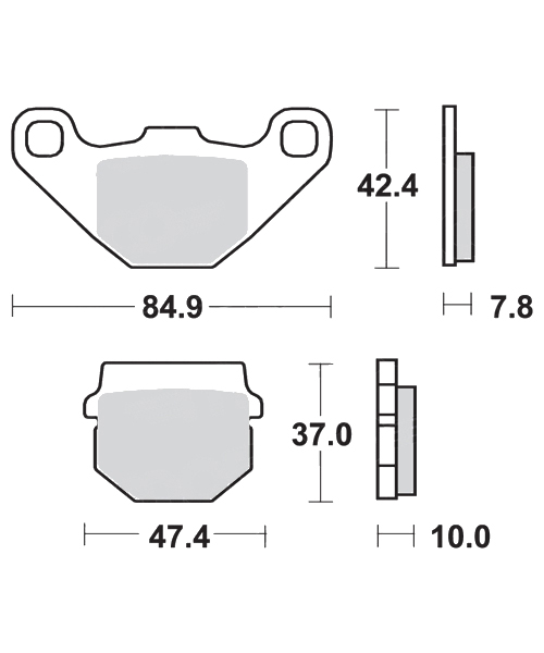 Brake pads scooter SBS 102HF, : motorcycle parts & spares