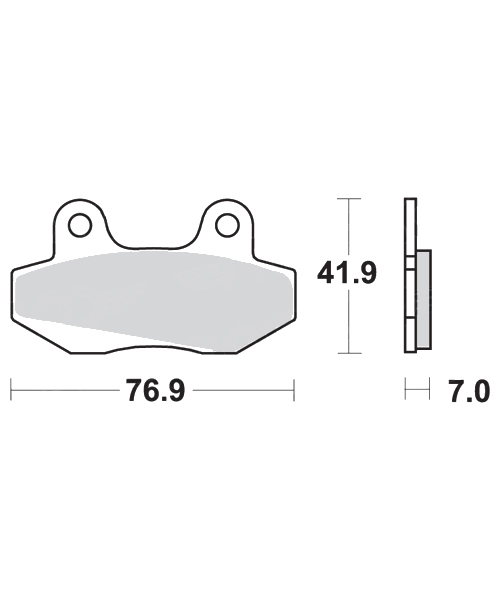 Brake pads scooter SBS 103HF, : motorcycle parts & spares