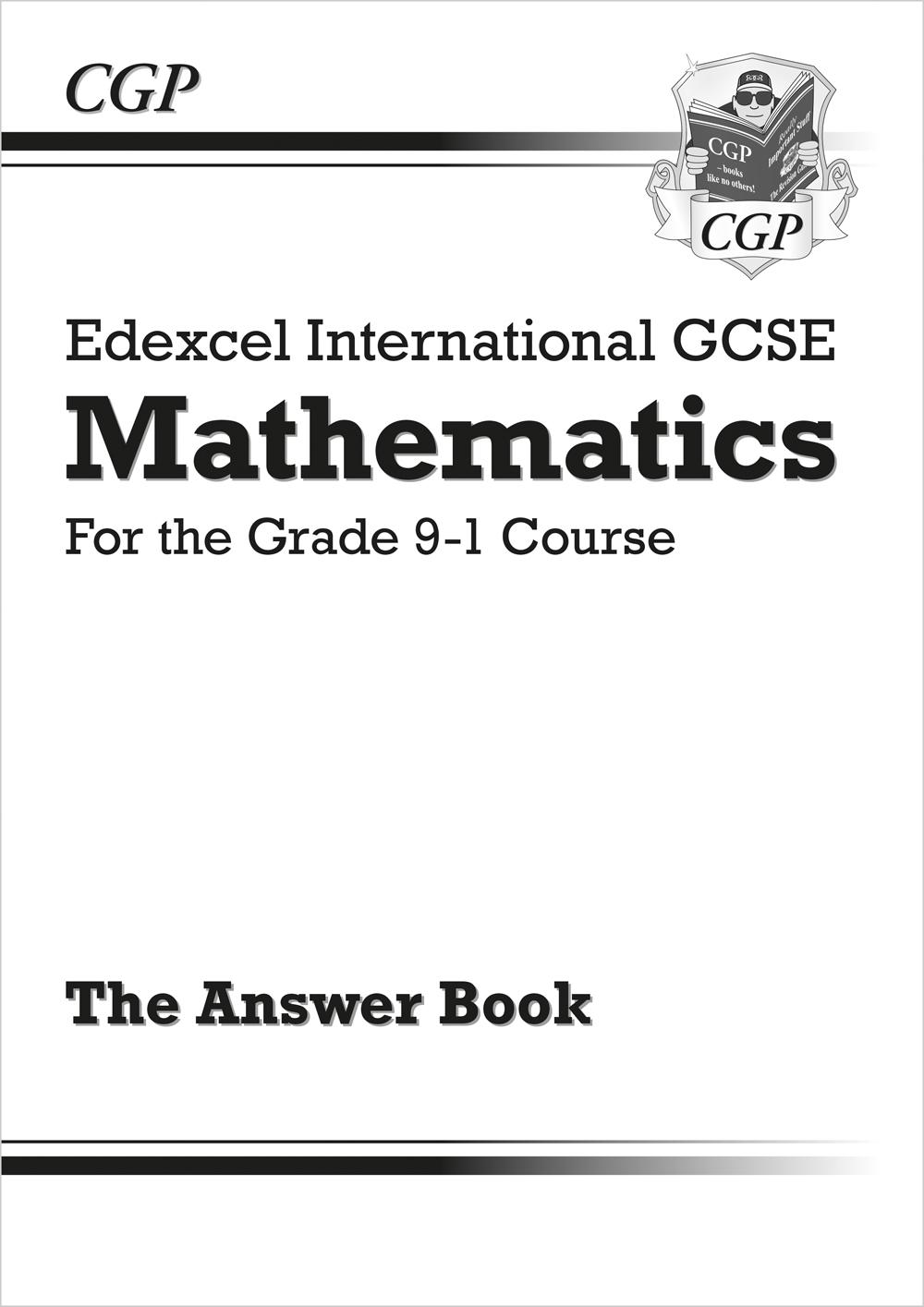 Edexcel International GCSE Maths Answers for Workbook