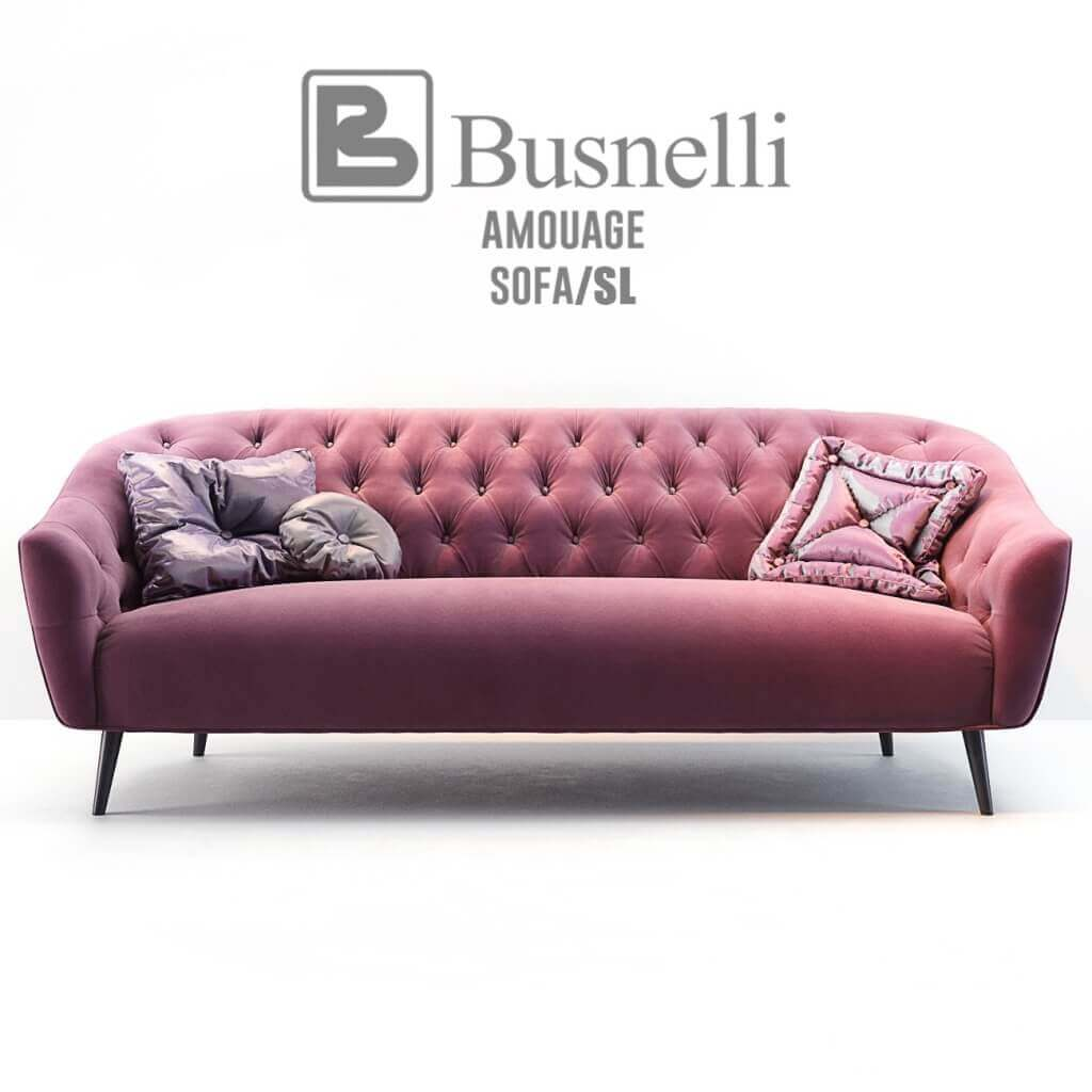 sofa classic bed full size double busnelli amouage with armchair 3d model for download 2