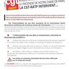 Les salariés RATP exposés au plomb de Notre-Dame de Paris …