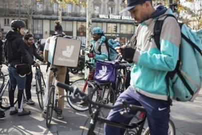 coursiers à vélo