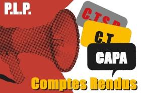 CAPA PLP Recours PPCR : CR et déclaration liminaire