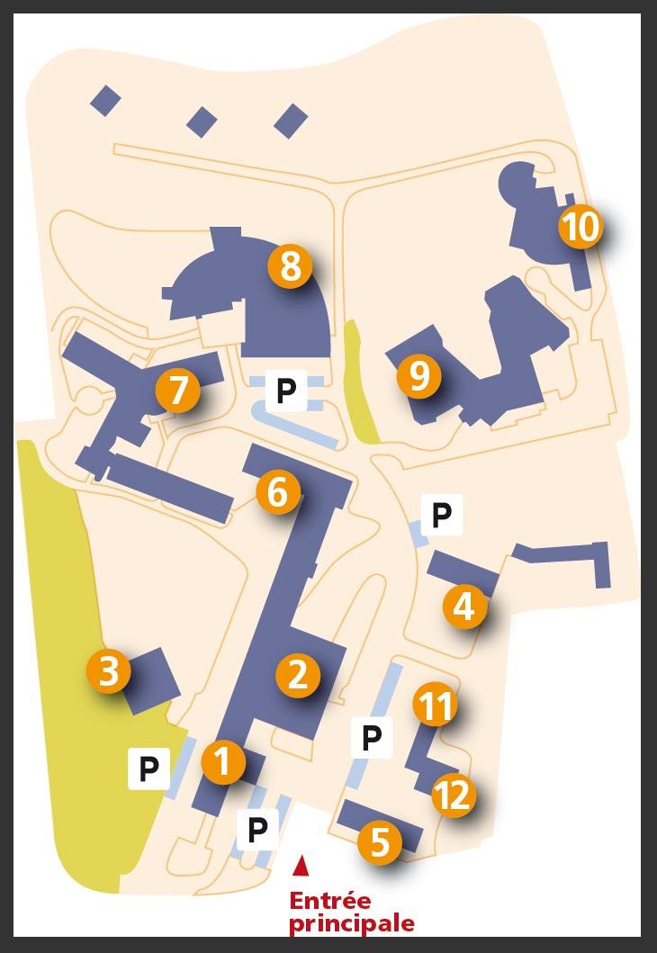 Plans de situation  CH Quimper