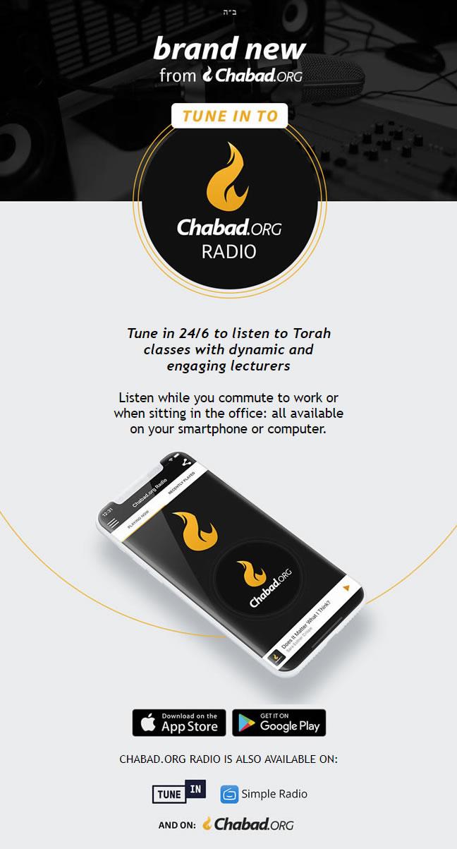 Chabadorg Radio App  Tune in for 246 Torah Classes The