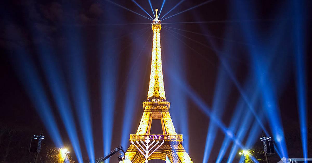 Eiffel Tower Menorah Brightens Paris As Worldwide