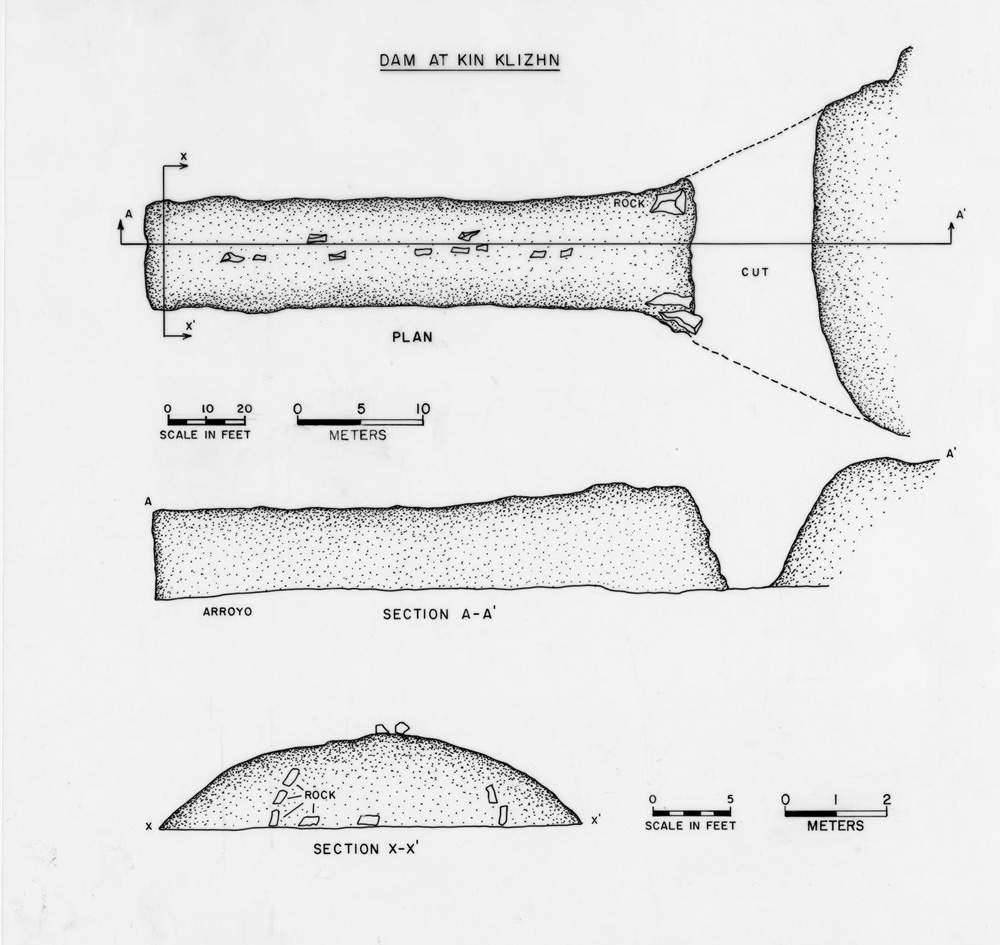 hight resolution of plan and profile views of kin klizhin dam 29sj 2444 as drawn by gordon vivian