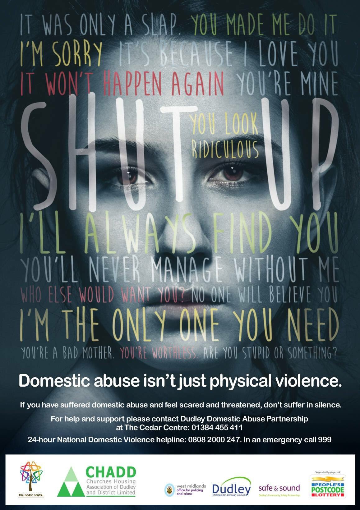 One Number Local Helpline for Domestic Abuse  CHADD