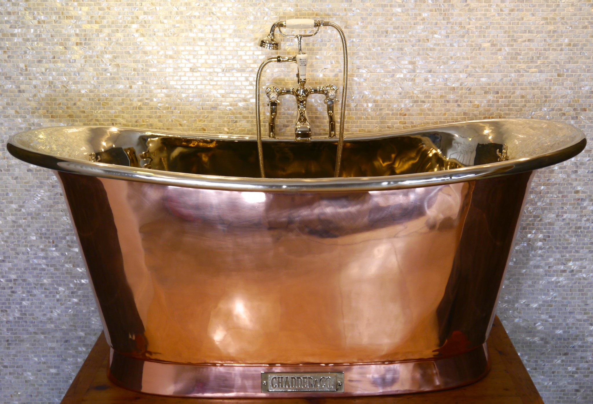 Royal Copper Bath with Nickel Interior  Chadder  Co