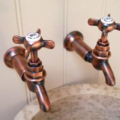 Antique Copper Kitchen Faucet Granite Top Island Breakfast Bar Bib Taps Wall & Deck   Chadder Co.
