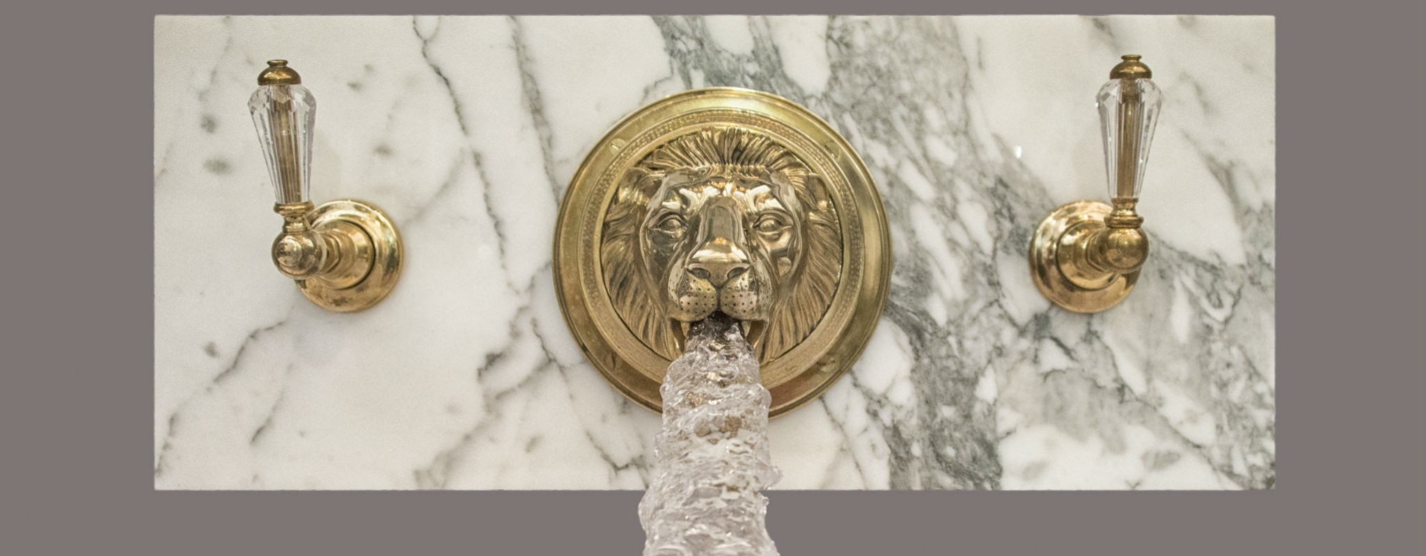 vintage kitchen faucet fruit lion bath/basin filler | chadder & co.