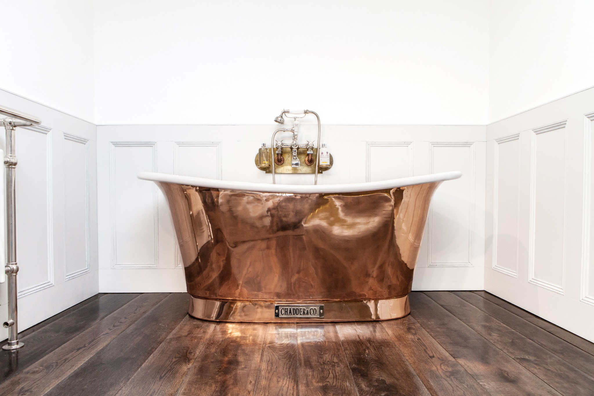 Royal Copper Bath with White Interior  Chadder  Co