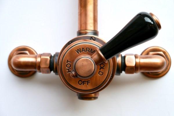 Exposed Copper Shower Valve