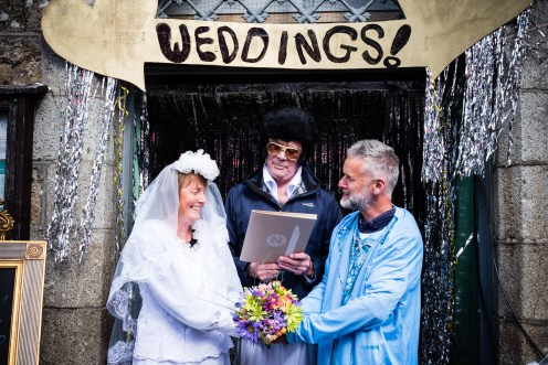The Elvis wedding chapel on Chagford square