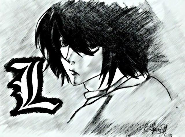 Sketsa-Wajah-Ryuzaki-Lawliet