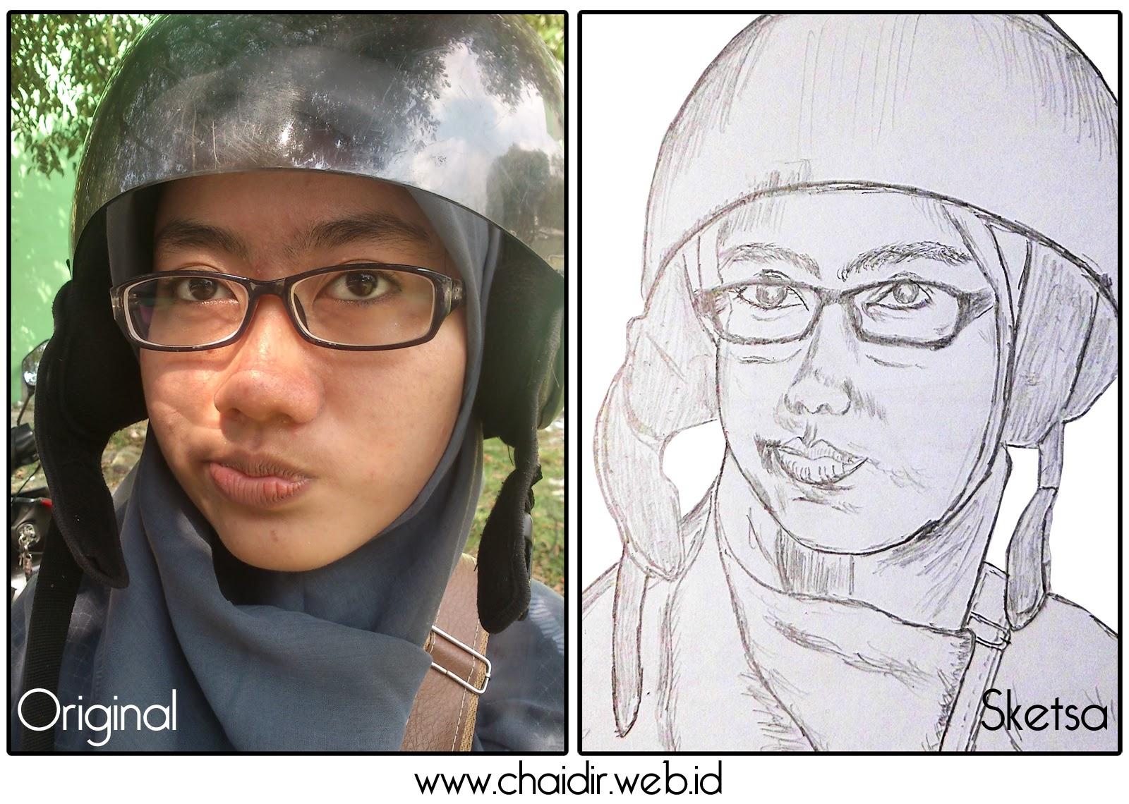 Menggambar Sketsa Foto Orang