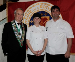 Bailli George Elliott, Pastry Chef Megan Ketover. Executive Chef Todd Kelly