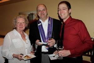 Sandra Pacak, Chevalier Nick Pacak, and Patrick Harrell
